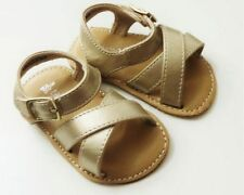 Faux Leather Sandals Hook & Loop Fasteners Medium Baby Shoes