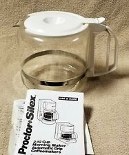 PROCTOR-SILEX 12 Cup Replacement Glass CARAFE D45 POT DECANTER White EUC