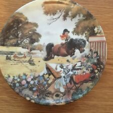 THELWELL PONY PLATE DANBURY MINT JUMPING OVER THE JUDGES PERFECT
