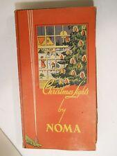 Working 7 Bulb Set 1939 Noma Christmas Lights #3010 Book Box Bakelite Plugs