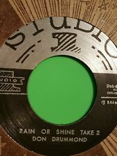 Studio one Rain or shine take 2 / Take 3 . Don't Drumond