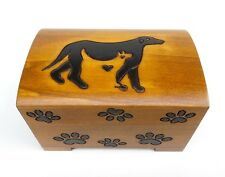 Pet Urn Cat Dog Paw Print Wood Box Cremation Ashes Wood Chest Small Memorial Box