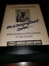 Elton John Louder Than Concrete Tour MSG Rare Original Promo Poster Ad Framed!