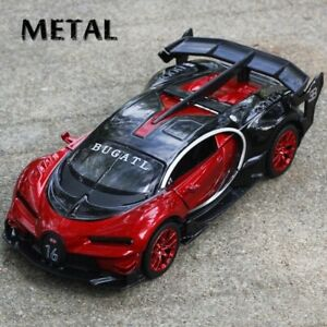 1:32 Bugatti Gt Diecast Model Alloy Car Toy Collection With Sound & Light Gift