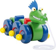 LEGLER Zieh-Drachen Nachziehtier Holzdrache Holzspielzeug Ziehtier Kinder  NEU