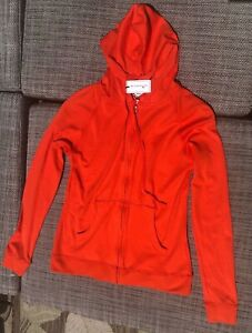 NWT $120 Peter Millar Orange Full Zip Hooded LongSleeve Golf Sports Jacket Women