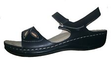 Rio Comfort Sandal-5278-Black-Camel-P added Footbed Support-All Day Comfortable
