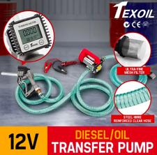 180W 12V Oil Transfer Pump 40L/min high rate Digital Diesel Fuel Trigger lock
