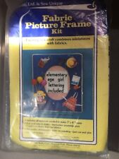 Cardé, Ltd.is Sew Unique Fabric Picture Frame Kit w/Scrapbooking girl lettering
