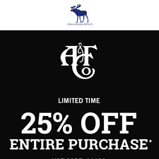 ✔ Abercrombie Coupon Code 25% Work Sale Clearance ✔ Instant Delivery ✔Ex10/31/20