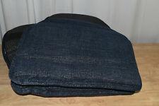"""Gripper Non-Slip 15"""" x 16"""" Vienna Chenille Blue Chair Cushions, Set of 4"""