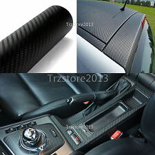 DIY Black 3D Carbon Fiber Texture Vinyl Sheet Car Wrap Roll Film Sticker Decal