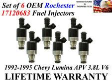 Genuine Set of 6 Rochester Fuel Injectors For 92-95 Chevrolet Lumina APV 3.8L V6