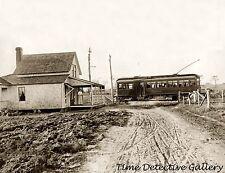 Isaac's Ice Cream Parlor & Trolley Car, Connecticut -19100- Historic Photo Print