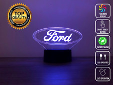 FORD LOGO BRAND CAR  3D Acrylic LED 7 Colour Night Light Touch Table Lamp Gift