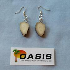 Hand-Crafted Real Deer Antler Jewelry - Earrings (at049)