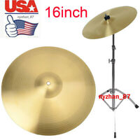 "US Professional Copper 16"" Thin Crash Cymbal for Drum Gold Percussion Instrument"