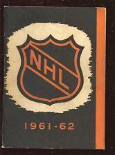 1961/1962 NHL Hockey Press & Radio Guide VG