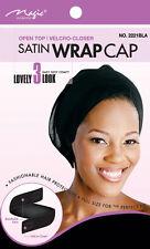 Magic Collection Satin Wrap Cap Open Top Velcro-Closer# 2221BLA***