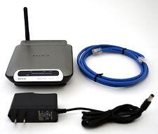 Belkin F5D7230-4 WirelessRouter 802.11b/g 4-port Switch WiFi Windows Mac v.8000