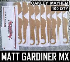 100 qty TEAR OFFS fit OAKLEY MAYHEM MOTOCROSS ENDURO GOGGLES flippers