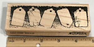 SHIPPING TAGS BORDER by Stampendous Rubber Stamp