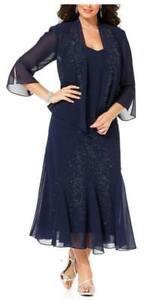R&M Richards Women's Plus Size Beaded Jacket Dress-Mother of the Bride Dresses