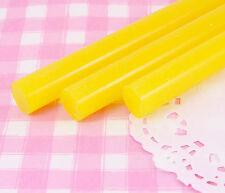 6 x 11mm Giallo semi-opaco colorato 200mm Bastoncini di colla a caldo-PANNA Craft