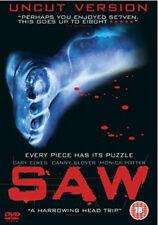 DVD:SAW - UNCUT VERSION - NEW Region 2 UK
