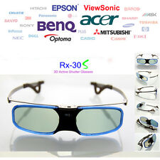 RX-30S DLP-LINK 3D Projector LCD LensShutter 3D Glasses Fr BenQ Optoma Acer Dell