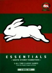 NRL Essentials: South Sydney Rabbitohs (3 DVD Set) - Brand new sealed!