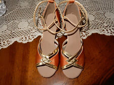 Shades of Gold, 2 1/4 inch Heel Ballroom Dance Shoes, women U.S. size 6