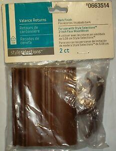 Style Selections Valance Returns 2 Per Pack Bark Finish 0663514