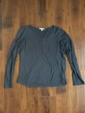 James Perse 2 women shirt Blue Black Striped