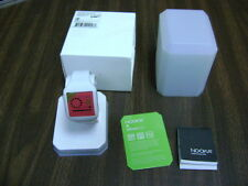 Nooka Zub Zirc 20 Watch - WHITE  K FARRINGTON NIB RARE RED SNOW FLAKE FACE