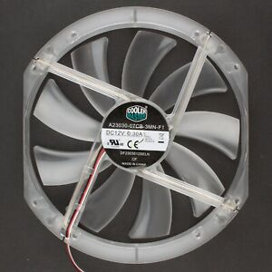Cooler Master | 230x200mm Refurbished Clear 3-Pin Fan, Red LED | DF2303012SELN