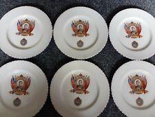 Set of 6 small (7 inches) Edward V111 Coronation Plates 1937