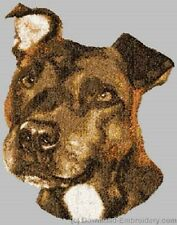 Embroidered Fleece Jacket - Staffordshire Bull Terrier Dle3720 Sizes S - Xxl