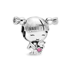 Authentic Pandora Girl with Pigtails Silver S925 ALE Charm Bead 798016EN160