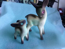 """Bambi And Mom Deers 5.5""""x3"""" and 3"""" x2"""" K2961 On bottom of Bellies"""