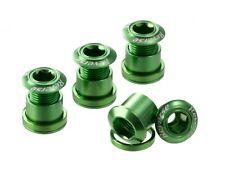 Reverse Kettenblattschrauben SET 4 Schrauben + Muttern grün