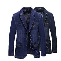 2019 New Spring Men's slim Jeans denim suits jacket Casual Blazer tops jacket
