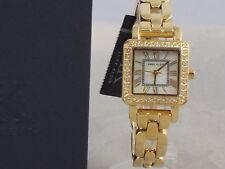 Anne Klein Women's Gold MOP Dial Crystal Bezel Square Watch 10/9882MPGB -1 Link