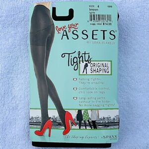 Love Your Assets Sara Blakely Original Shaping Tights Spanx Brown Size 4 New