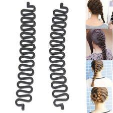 2 Pcs Women Magic French Hair Roller Braiding Tool Braider Styling Bun URX