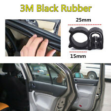1X 3M Car Body Door EPDM&STEEL Rubber Seal Strip Soundproof Weatherstrip Black