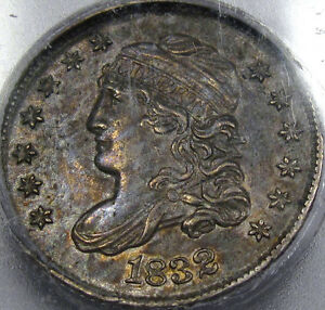 1832 Capped Bust Half Dime BU ICG MS-61... A Very Nice and Original Look, Neat!!