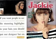 JACKIE MAGAZINE #1271 JOHNNY HATES JAZZ COLOUR POSTER, GEORGE MICHAEL, A-HA