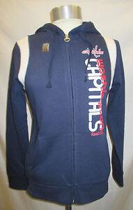 Washington Capitals NHL Women's Navy Full Zip Hooded Sweatshirt