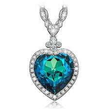"LadyColour Valentines Day Gifts For Women ""Heart Of The Ocean"" Titanic Sapphire"